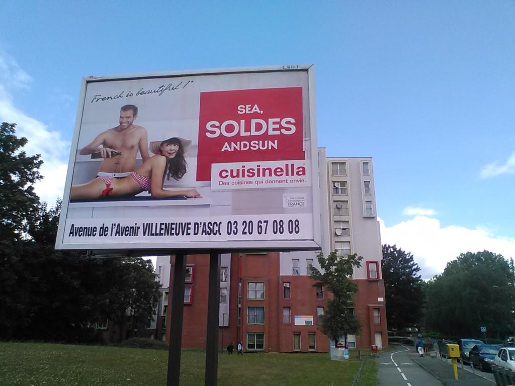 La pub dans toute sa splendeur sur 300 m tres villeneuve - Cuisinella villeneuve d ascq ...